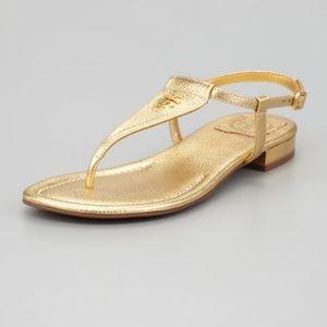 Tory Burch metallic Britton sandals
